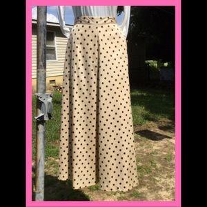 Vtg Tea Length Skirt, sz M